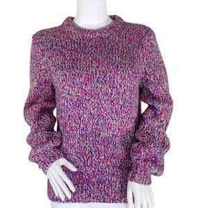 GAP Pink Multi Color Chunky Crew Neck Sweater S